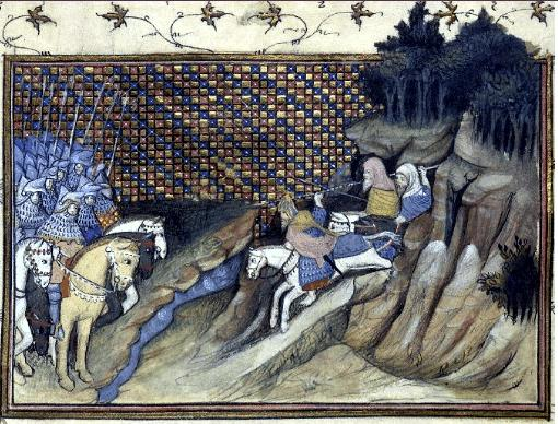 14th century encounter between the Irish and Anglo-Normans (after Histoire du roy d'Angleterre Richard II)