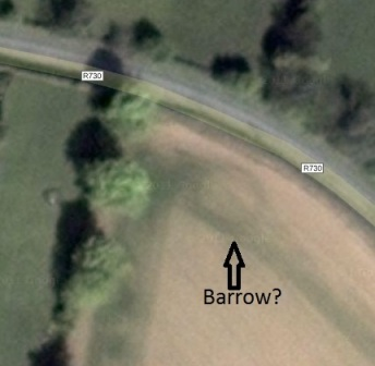 Close up of possible barrow/ring-ditch located to the norteast of cillin