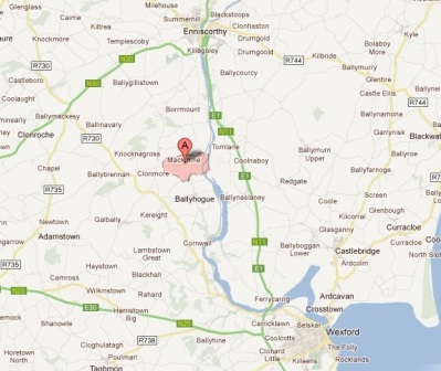 Location of Macmine townland (click to enlarge)