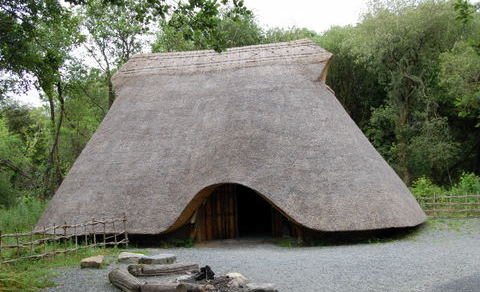 Neolithic house at the Heritage Park in Wexford