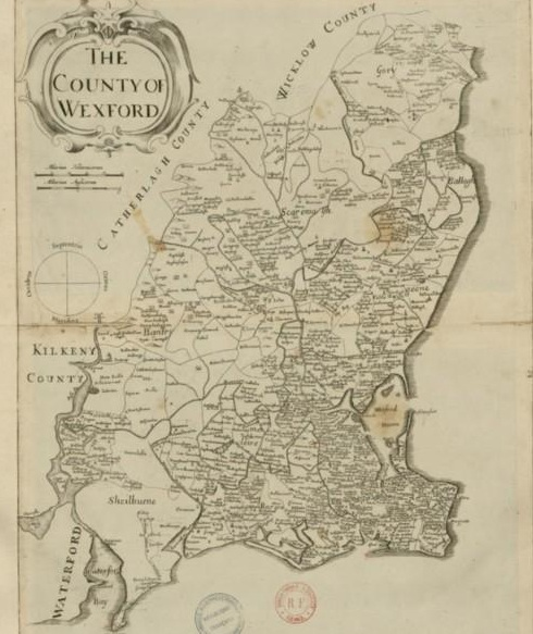 William Petty's map of Wexford 1685