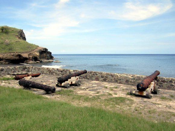 Colonial cannons Montserrat