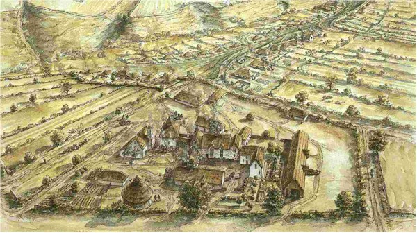 How Clogh/Wilton village may have looked (after the medieval village of Wharram Percy