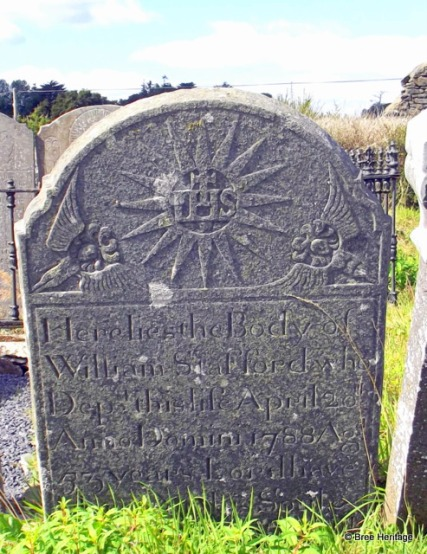 18th century headstone Wexford