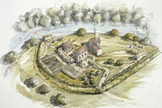 How the preceptory at Ballyhogue may have looked (source)