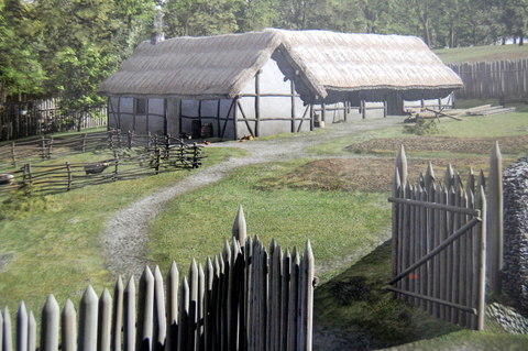 A medieval famstead reconstruction (after Dining and Dwelling, NRA Monograph 6, 2009, p. 131)